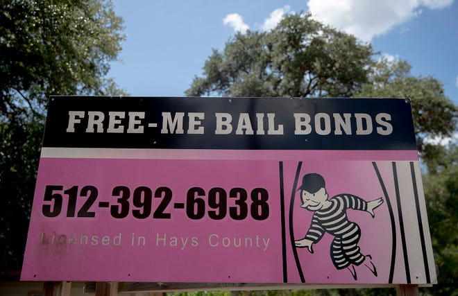A billboard advertises a bail bond business in San Marcos in this Aug. 19, 2019 file photo. [NICK WAGNER/AMERICAN-STATESMAN]