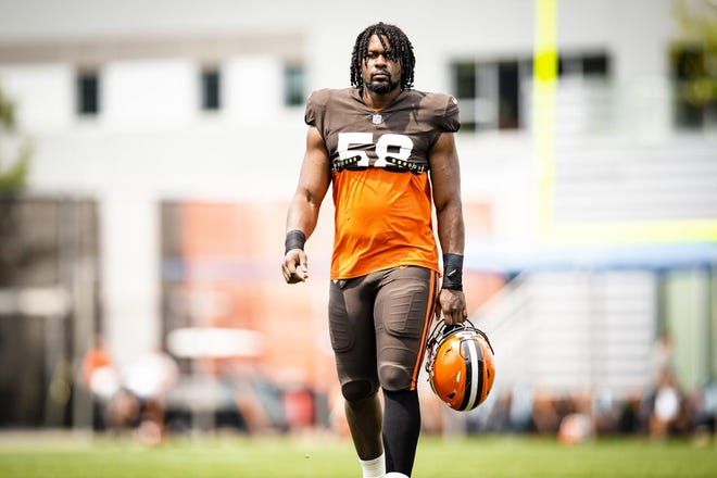 Browns defensive lineman Malik McDowell has had a good training camp is fighting for a roster spot. [USA TODAY Network]