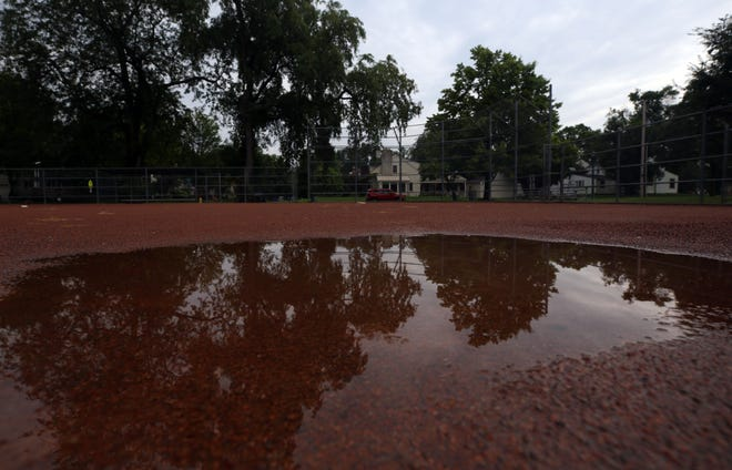 Upper Arlington is considered a $733,762 project to improve drainage and upgrade sports facilities at Northam Park. The five-phase, six-year could start next winter. Shown is one of the ball fields Aug. 25.