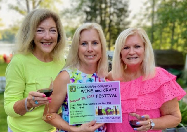 Committee for the Lake Ariel Wine and Craft Festival, Kathleen Milenkowic, Rose Bolha, and Barbara O'Hara.