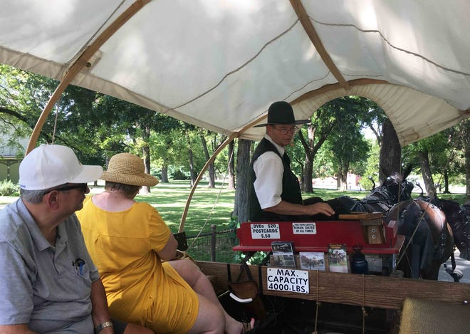 Ralph Goldsmith is once again giving historically themed tours in a mule-drawn wagon after being sidelined with illness. 'It just feels good to do what God created me to do,' he said. 'I love the animals, and I feel blessed to do it.'