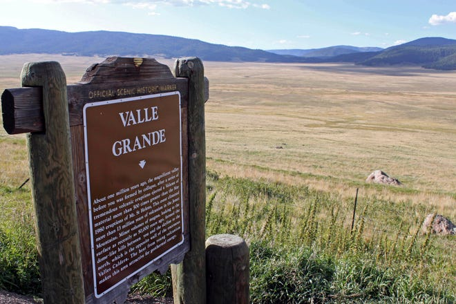 This Sept. 3, 2010, file photo, shows the grasslands at Valles Caldera National Preserve, N.M.