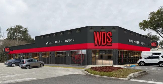Southeastern Grocers will open its first stand-alone Winn-Dixie liquor store on Wednesday at 4472 Hendricks Ave. in Miramar Center in Jacksonville.
