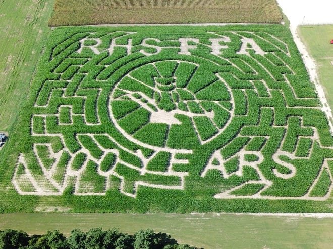 Hog Wild at Howard Farms is honoring 100 years of Richlands High School's Future Farmers of America program with this uniquely designed corn maze at their Onslow County farm.