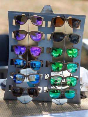Hemp Vision sunglasses made of hemp were for sale.  The Texas Hemp Growers Association hosted Thursday the 26th. (Mark Rogers / For AJ Media)
