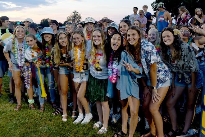 Airport High School students got into the school spirit Thursday by wearing Hawaiian-themed attire for the varsity football team's season opener against Ida.