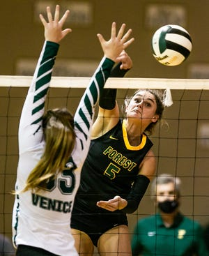 Ocala Forest's Emma Truluck led the way Monday against visiting Gainesville High.