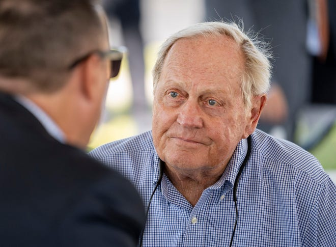 Jack Nicklaus, appearing at the dedication ceremony for the Nicklaus Family Athletic Complex at The Benjamin School in Palm Beach Gardens, recently took up pickleball with not-so-good results.