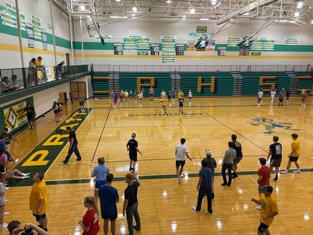 """Pratt High School's fourth annual """"Back to School Bash"""" celebrated the start of school Aug. 20, complete with yard games, ice cream floats and a dunk tank."""