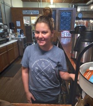 Maci Roadhouse is ready to serve area teachers at N'Cahoots on the first day of school for many in Pratt.