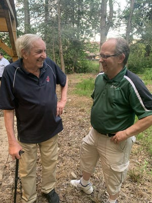 Gary Jancsurak, right, has taken over executive director duties for the Aurora One Fund from Joe Kotlin, left.