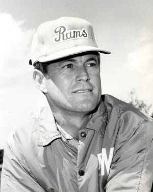 Dick Vermeil when he was an assistant coach with the Los Angeles Rams.
