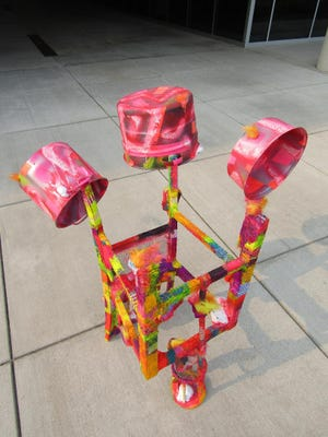 """""""Drums"""" is one of the sculptures by Edwin Shelton that will be on display in a pop-up installation titled """"Constellations of the Unseen"""" on Sept. 3, 2021, at Barker Hall in Michigan City,"""