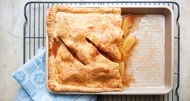 """Apple slab pie from Cathy Barrow's new cookbook, """"Pie Squared."""""""