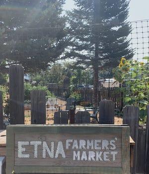 The Etna Farmers Market is Saturdays from May through Ocotober.
