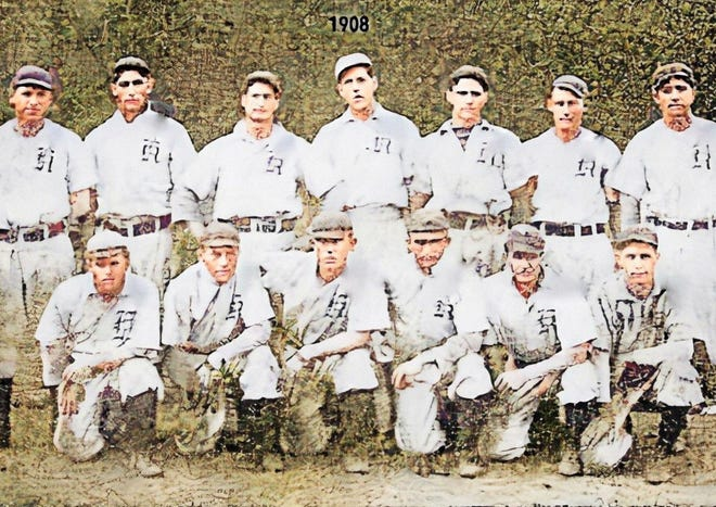 Kewanee's team was part of the Central Association. Front row, from left: Berg, Johnston, Crandal, Copeland, Lage and Hodge. Back row: Wagner, Noe, Stevenson, Pressy, Calahan, Lewis and Fisher
