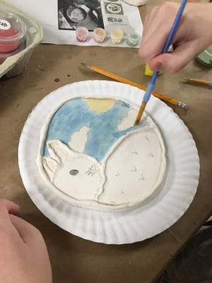 Children's Art Lab returns to the MAC with Art in the afternoon on Fridays.