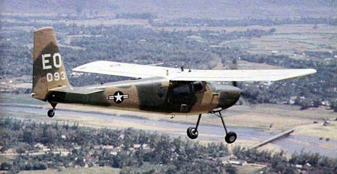 A U-10 Helio Courier, the model typically flown by US Air Force pilots in Southeast Asia.