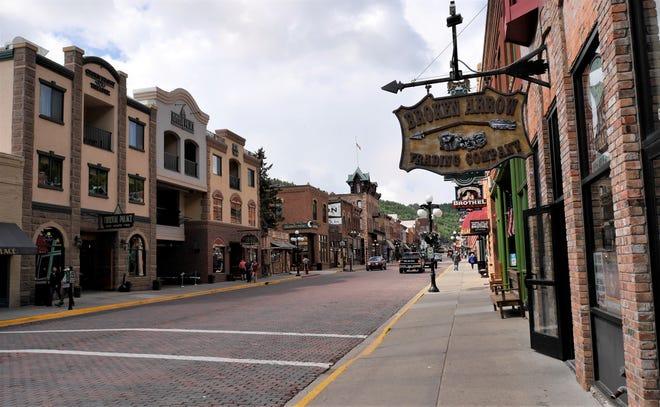 Downtown Deadwood, South Dakota.