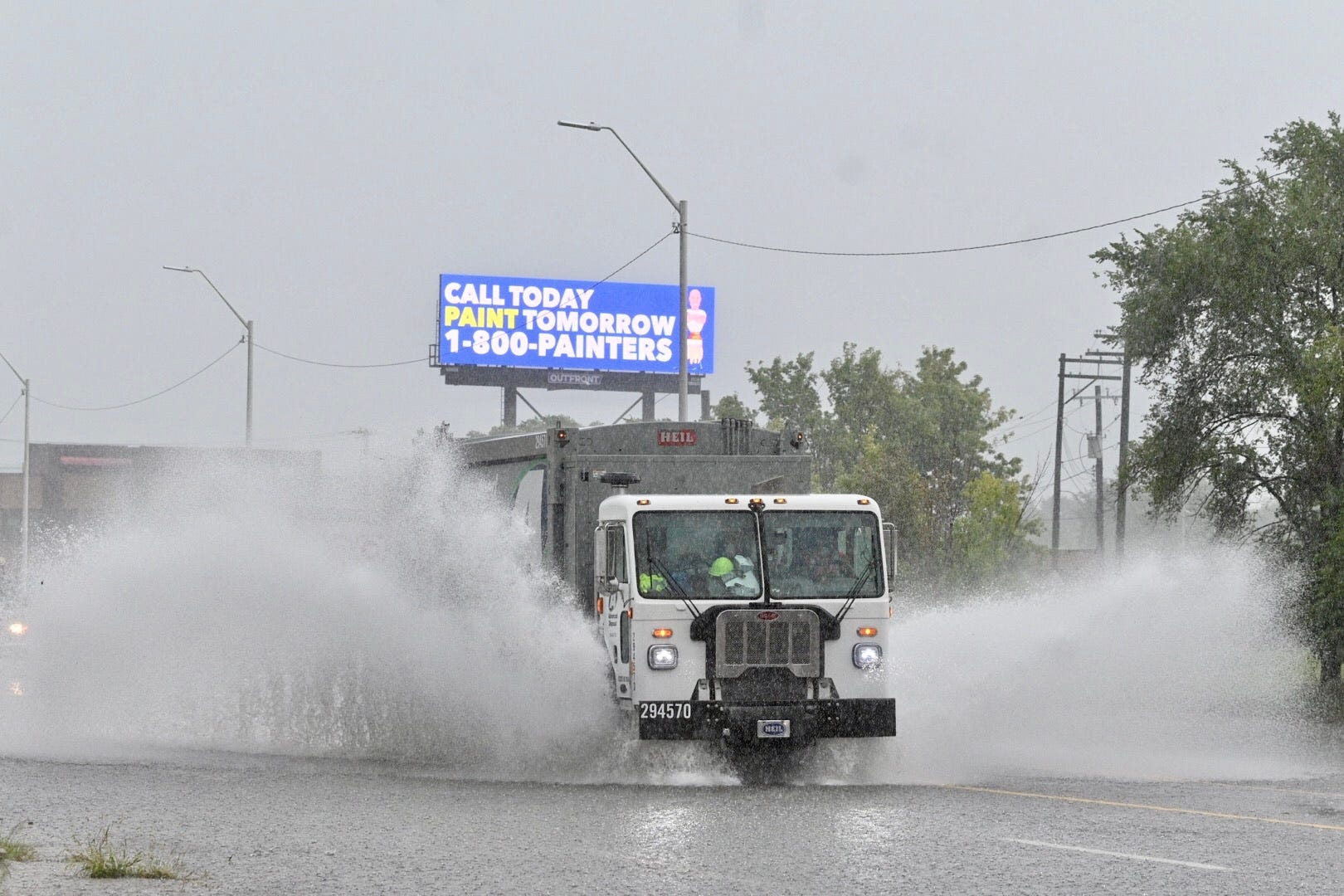 Parts of two Clinton Township roads closed due to flooding Wednesday