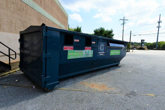 Are recyclables collected in these Greenville County containers going to landfills?