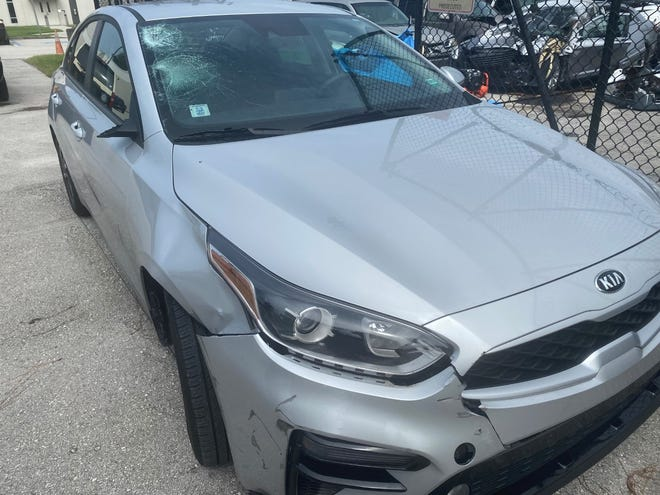 The driver of a four door Kia fled the scene of a hit-and-run crash on U.S. 41 near Pineland Avenue in East Naples on August 22, 2021, according to the Florida Highway Patrol.