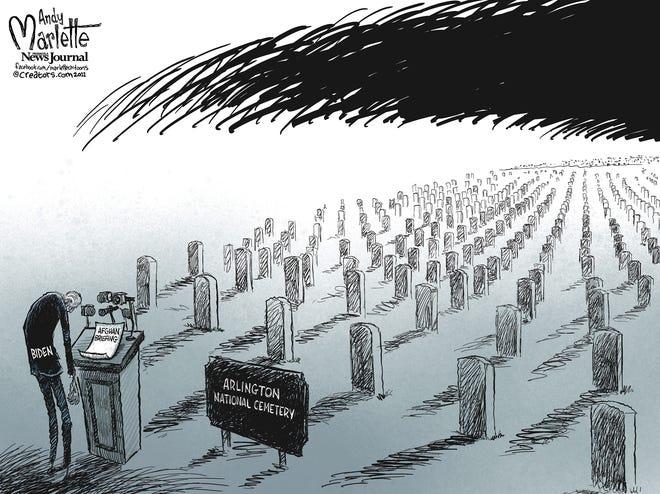 Marlette cartoon: Dark days and few words of solace from Biden