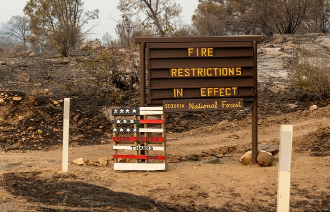 The French Fire continues to burn northwest of Lake Isabella and Wofford Heights on Thursday, August 26, 2021.