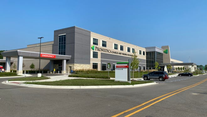 ProMedica Charles and Virginia Hickman Hospital in Adrian Township is pictured Saturday. The hospital is one of 51 in Michigan that will share in a $13 million federal grant for COVID-19 mitigation and testing.