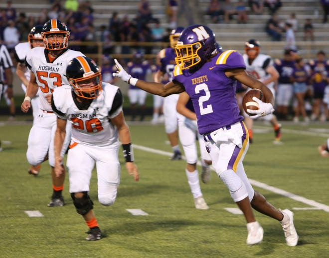North Henderson running back Hazahn Collington breaks away for a big gain during North's home game against Rosman two weeks ago. North will be on the road Friday at Owen for Week 4. Other area games Friday will be Daniel, S.C. at Hendersonville and Brevard at Erwin.