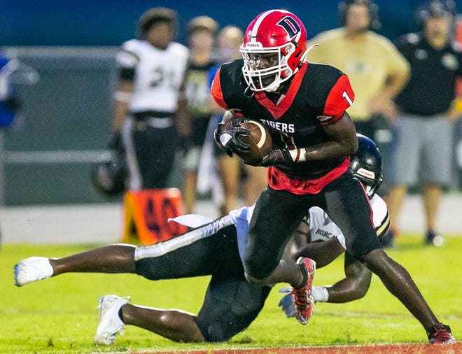 Dunnellon's Lj Fitzpatrick (1) is a player to watch at Friday night's game.