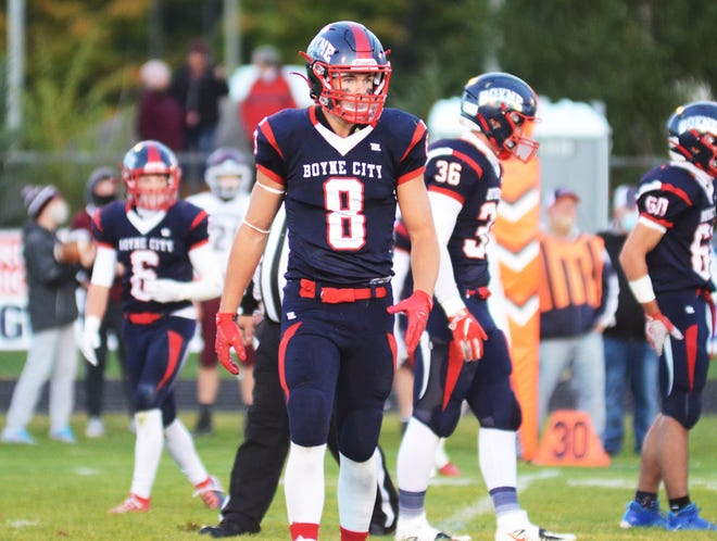 Bobby Hoth and the Boyne City football team got things working in the second half and wore down the Falcons to bring in a win.