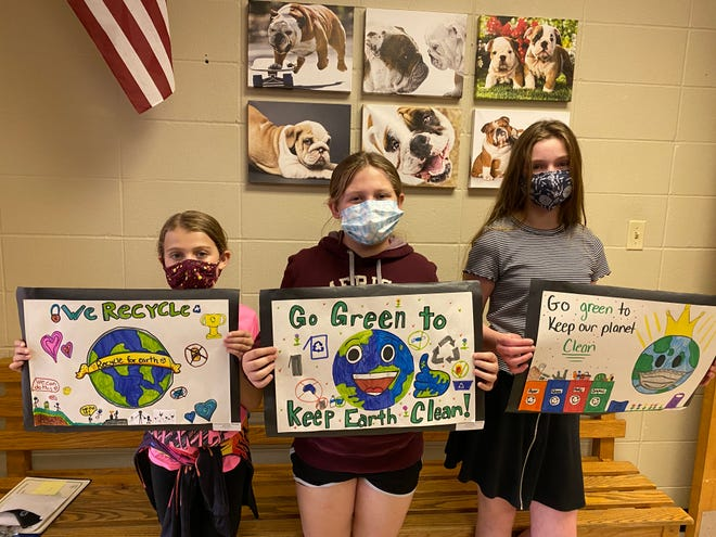 Ozark Rivers Solid Waste Management District announced that 24 Phelps County students were honored with first and second place awards and honorable mentions in the 30thAnnual Earth Day Poster, Trash and Graphic Art contest.