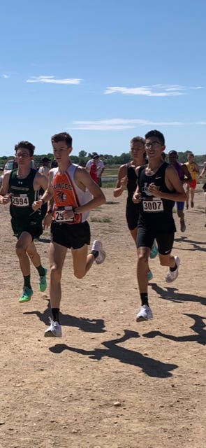Pueblo South sophomore Andres Cura earns a third place at the 48th Annual Rocky Ford XC  Invite.