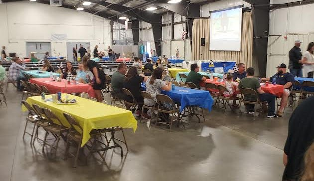 The Boys & Girls Club of Watertown's Blue Door Derby Camel Races drew a crowd Saturday night to the Codington County Extension Complex. The annual event is a fundraiser.