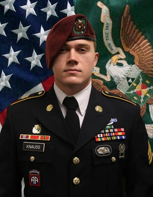 U.S. Army Staff Sgt. Ryan C. Knauss was killed Thursday along with 11 Marines and one Navy sailor in a terrorist bombing at Hamid Karzai International Airport in Kabul, Afghanistan.