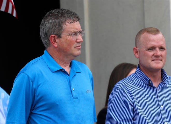 U.S. Rep. Thomas Massie attended a Kentucky Freedom Rally in Frankfort.08/28/21