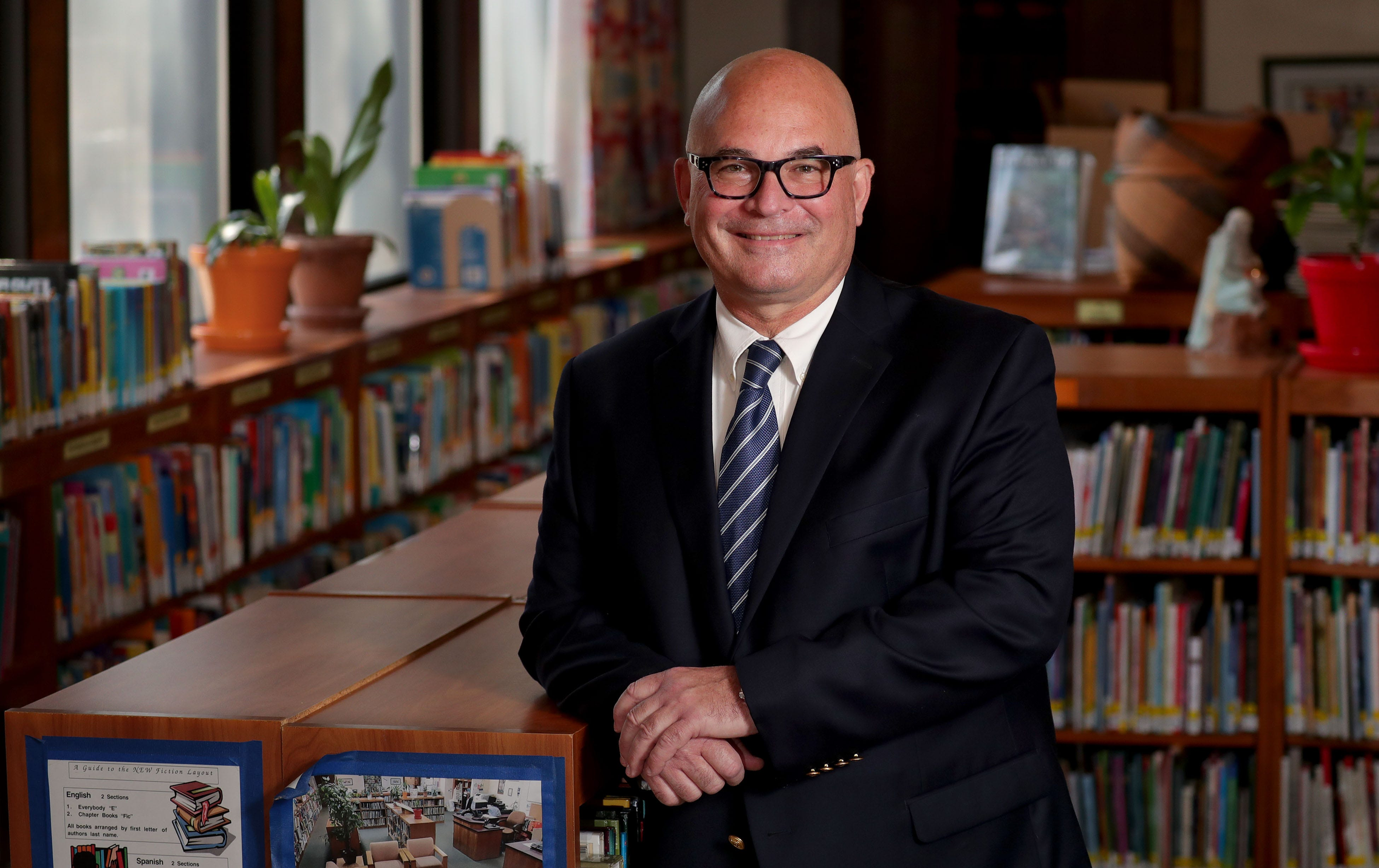 Escuela Vieau school Principal Marko Radmanovic at the school in Milwaukee. The school is participating in Fund My Future, a city-organized program to set up all kindergarten students with a 529 savings investment account for college or further post-secondary training.