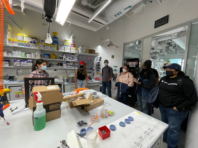 Navajo Technical University students visit Harvard University in Cambridge, Massachusetts on Aug. 21 to further their studies in science and to learn about research projects under a partnership the two universities have formed.