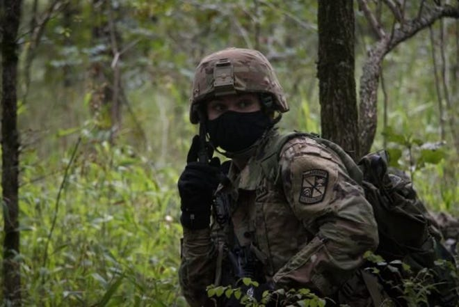 Florida State Army Reserve Officer Training Corps (ROTC) Cadets test their leadership and battle abilities at Cadet Advanced Camp Located at Fort Knox Kentucky.