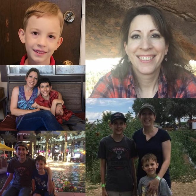 Amy Harshbarger, 40, and her sons, Garrett, 13, and Miles, 7, were last seen on Friday, Aug. 13, 2021.