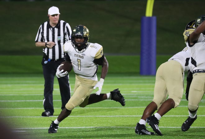 Treasure Coast and American Heritage play in a high school football matchup on Saturday, Aug. 28, 2021, at Paradise Coast Sports Complex, in Naples.