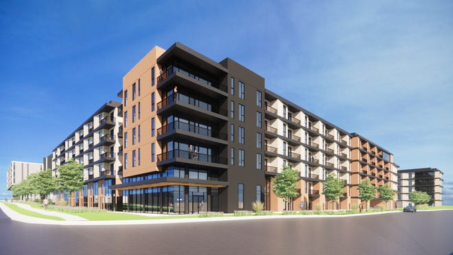 In the second phase of Cumby Group's project, two mixed-use buildings are planned at 3115 Manor Road. This phase calls for 450 to 500 apartments, including about 48 units reserved for households making no more than 60% of the Austin area's median family income.  Pending city approvals, Cumby hopes to begin construction in the spring of 2022. [Page]