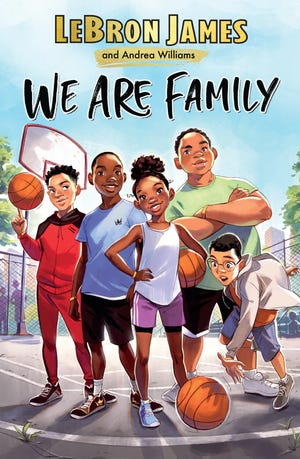 """LeBron James' second kids book """"WE ARE FAMILY"""" hit book shelves on Tuesday."""
