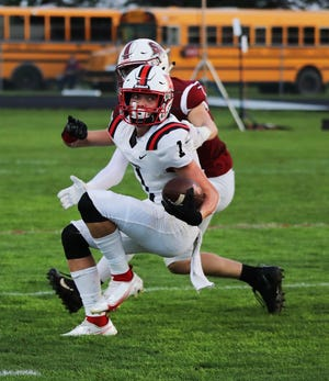 Will Bunn had three catches for 109 yards and one touchdown as a breakout performer for the Roland-Story football team in a 48-20 loss to South Hamilton in its season opener Friday at Jewell.