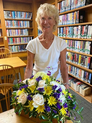 Peggy Ginther, Osterville Garden Club Design Committee chair, creates and organizes design workshops, and coordinates floral arrangements for club events.