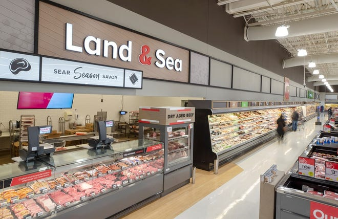 The Giant supermarket in Bensalem is undergoing renovations that will include updated decor for its meat and seafood department.