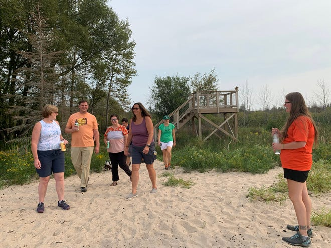 On Thursday, Aug. 26, the Cheboygan Brewing Company and Little Traverse Conservancy teamed up to host an event, raising awareness of regional trails and kicking off the fundraising to help expand the parking lot of the Duncan Bay Preserve.