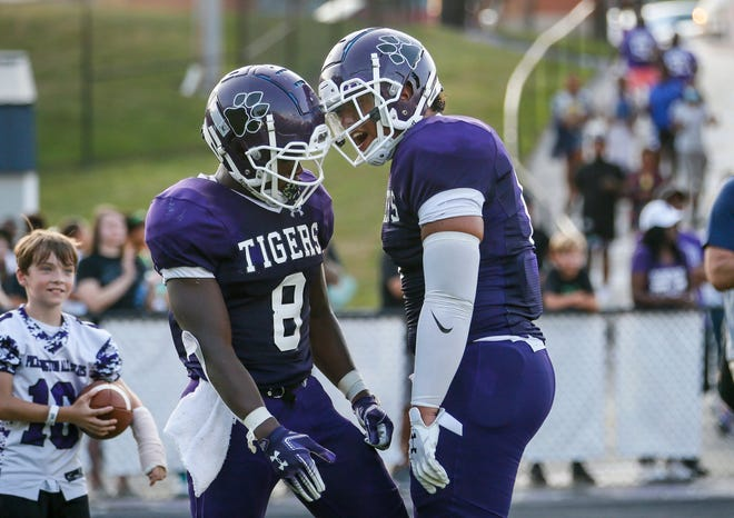 Olando Kamara (left) and C.J. Doggette have been key performers in Pickerington Central's 2-0 start. The Tigers play host to Wexford (Pennsylvania) North Allegheny on Sept. 3