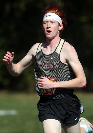 Senior Will Benseler is setting the pace for New Albany as its only returning Division I state qualifier. He won the season-opening New Albany Invitational on Aug. 23 in 17:28.